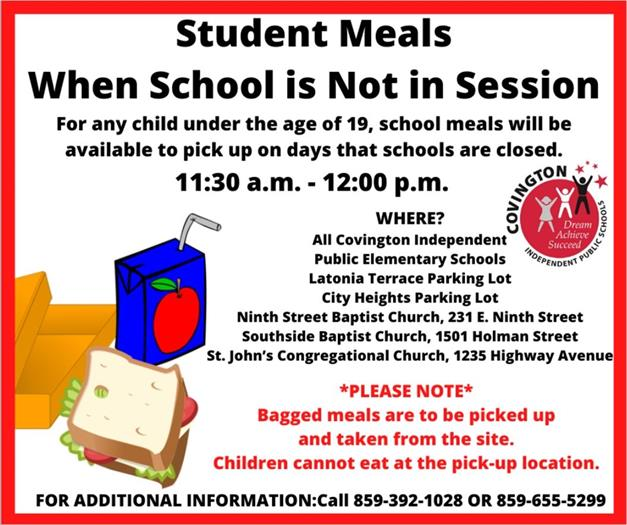 Free meals for Covington students
